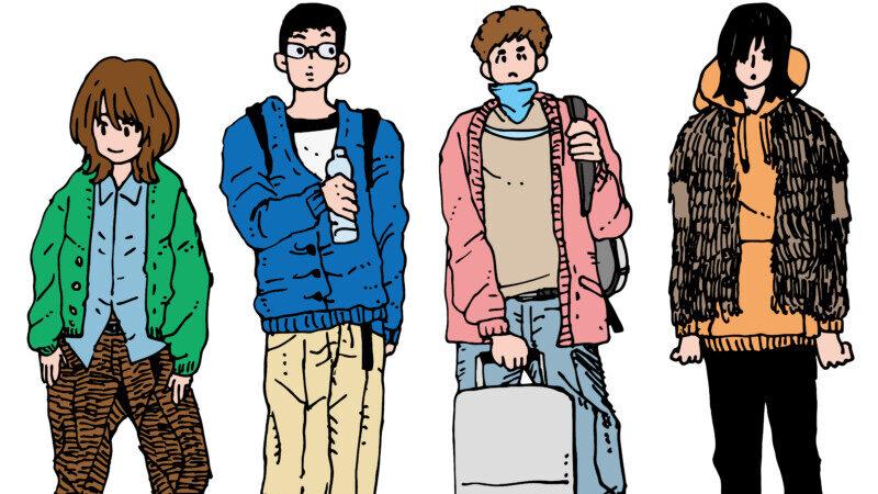 個性のある男子大学生