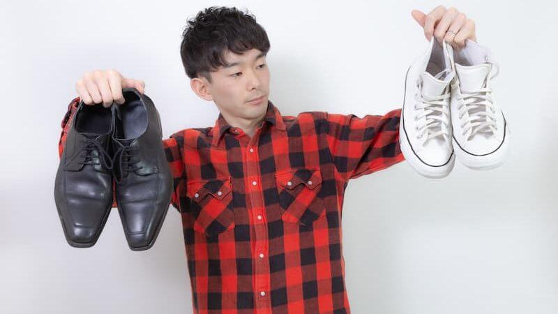どちらかの靴を選ぶ