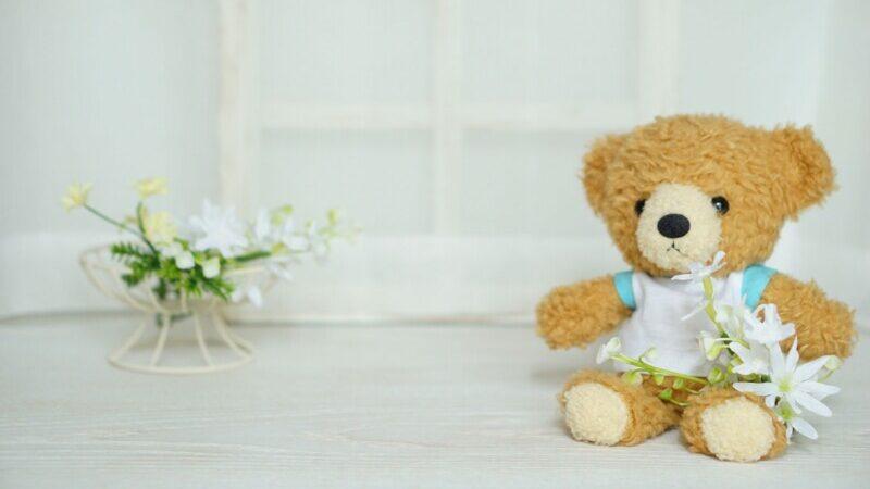 テディベアとお花