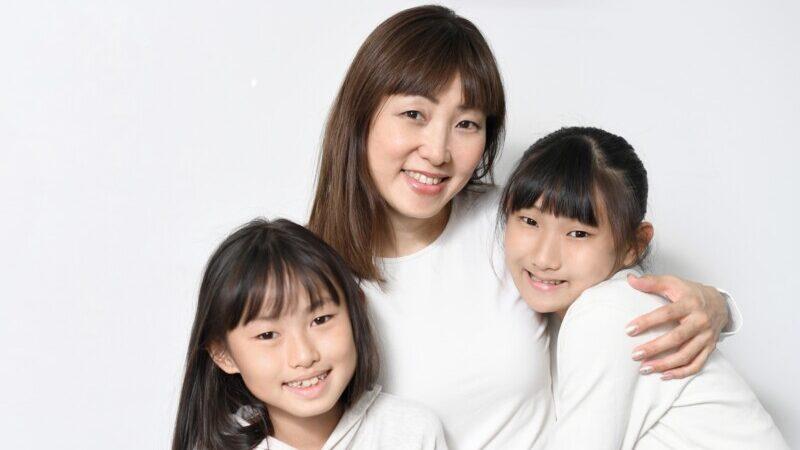 中学生と親
